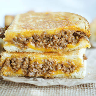 Sloppy Grilled Cheese Sandwiches.