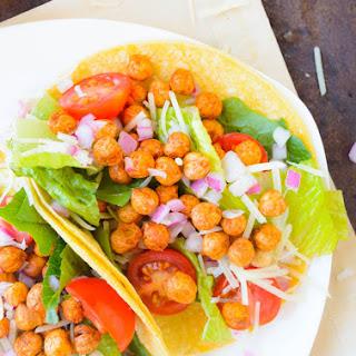Crunchy Chickpea Caesar Salad Tacos