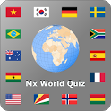 World country and flag quiz Mx icon