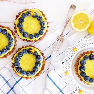 Lemon Tartlets With Oatmeal Cookie Crust [Vegan, Gluten-Free]