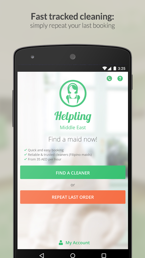 Helpling ME Cleaning Services- screenshot