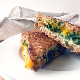 Roasted Butternut Spinach Grilled Cheese