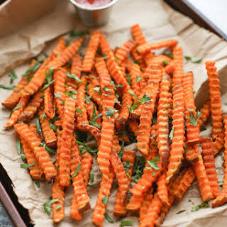 Oven Roasted Spiced Sweet Potato Fries.