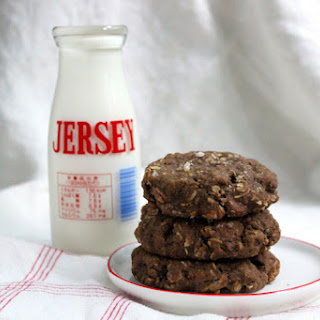 Dense Chocolate Oat Cookies