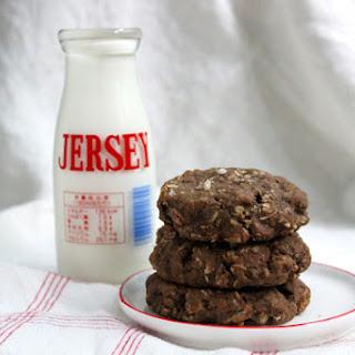 Dense Chocolate Oat Cookies.