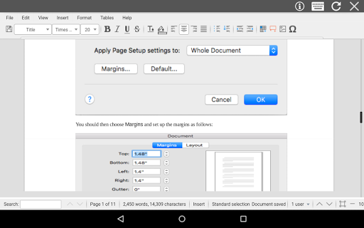 AndroDOC editor for Doc & Word screenshots 7
