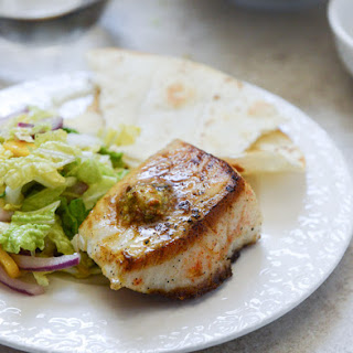 Crisp Skillet Sea Bass with Pistachio Butter