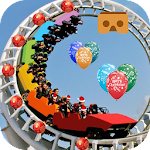 VR Rollercoaster Christmas Fun Icon