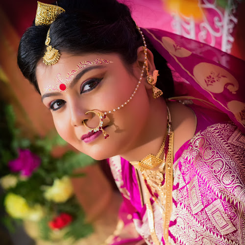 Smiling Eyes by Rathin Halder - Wedding Bride