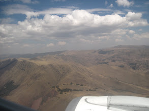 Photo: The Andes Mountains from the plane.