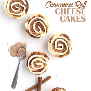 Mini Cinnamon Roll Cheesecakes.