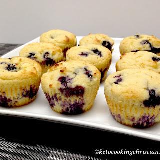 Blueberry Lemon Muffins – Keto, Low Carb & Gluten Free Recipe
