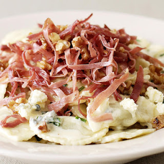 Pasta with Blue Cheese and Prosciutto