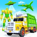 Flying Garbage Truck Robot Transform: Robot Games icon
