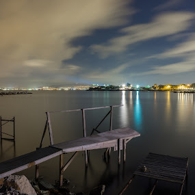 The abandoned port by Zisimos Zizos - Landscapes Waterscapes ( night photography, night scene, long exposure, seascape, longexposure )