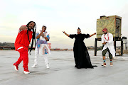 Bongo Maffin during a video shoot of their new single 'Harare' in Johannesburg. The Afro-pop group has recorded together for the first time in more than 10 years.