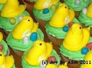 Easter Peeps Cupcakes Recipe