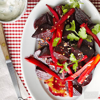 Indian-Style Roasted Beets and Carrots with Cream