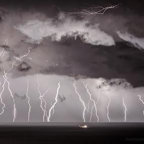 Thunderstruck by Ivan  Tomašić - Landscapes Weather ( thunder.lightning.storm.seascape.nature. )