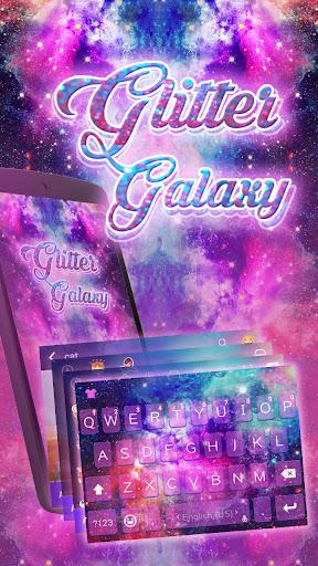 Glitter Galaxy Kika Keyboard