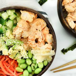 Spicy Shrimp Sushi Bowls.