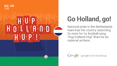 Photo: The Netherlands is in fine voice. #GoogleTrends