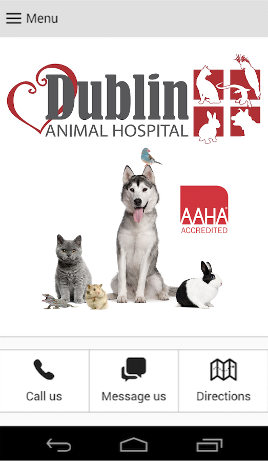 Dublin Animal Hospital- screenshot