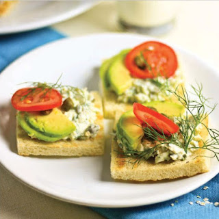 Sandwiches with egg pate and avocado- QUICK BREAKFAST IDEA.