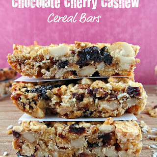 White Chocolate Cherry Cashew Cereal Bars