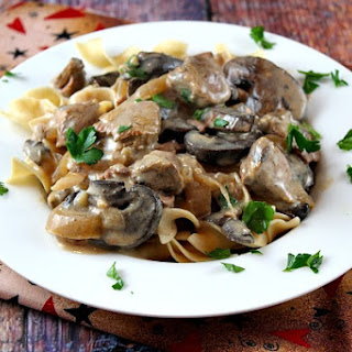 Slow Cooker Lamb Stroganoff.