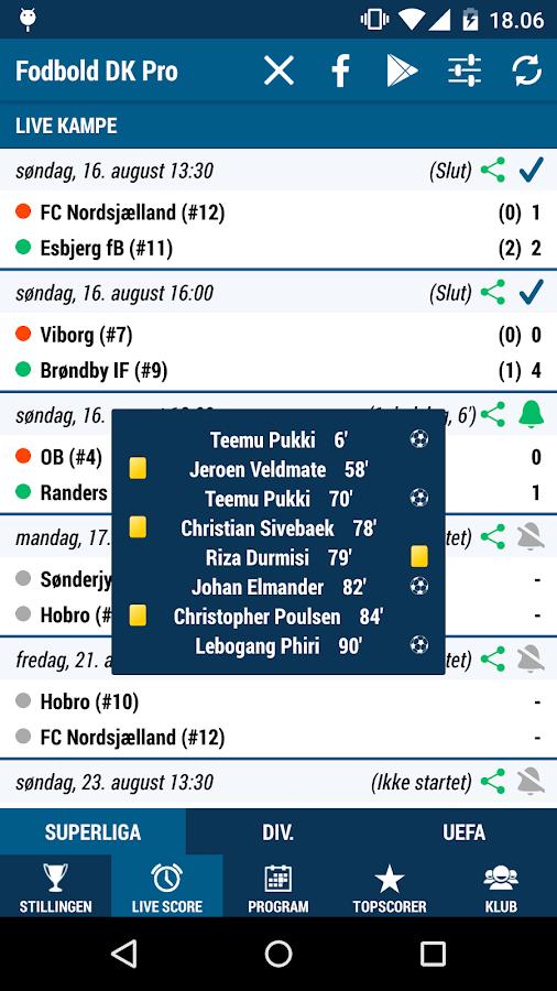 Fodbold DK Pro- screenshot