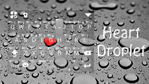 Droplet Love Keyboard Theme for PC