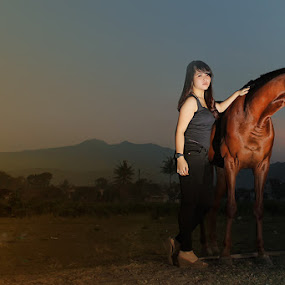 This is My Horses by Cevi Permana - People Portraits of Women