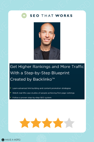 Backlinko's SEO Training for More Traffic and Sales review