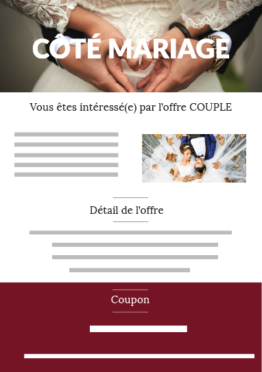 Offre couple mariage