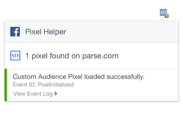 Facebook Pixel Helper chrome extension
