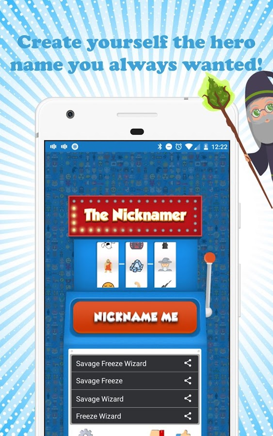 The Nicknamer – Best FREE Nickname generator- screenshot