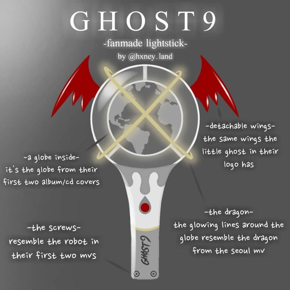 lightstick ghost9 hxney.land instagram
