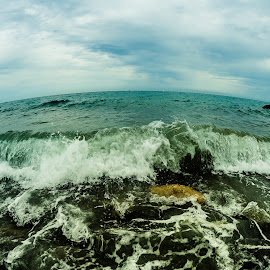 The wave by Florin  Galan - Nature Up Close Water ( water, nature, wave, sea, stones,  )