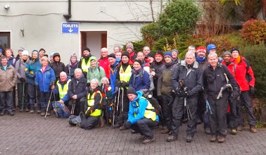 Photo: Group of Walkers ready to participate in the Walking Festival on Saturday