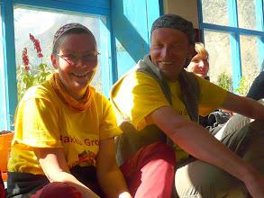 Photo: Christina & Ralf im Solarraum von Chimang