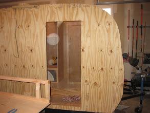 Photo: Exterior door cut out.