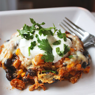 Chicken and Black Bean Mexican Casserole