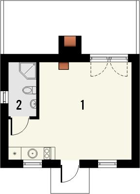 Domek 11 - Rzut parteru