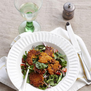 Summer Salad with Sweet Potato Rosti