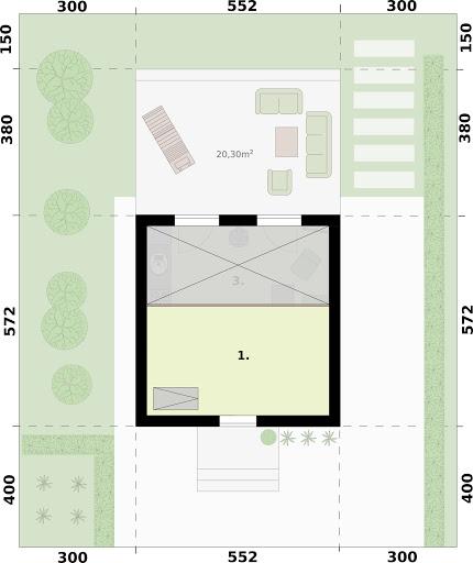 Lido A dom letniskowy na zgłoszenie do 35 m2 - Rzut poddasza