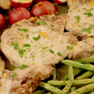 One Dish Ranch Pork Chops & Veggies.