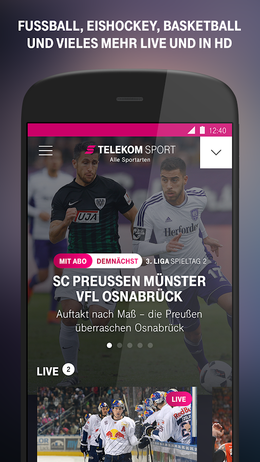 telekom sport android apps auf google play. Black Bedroom Furniture Sets. Home Design Ideas