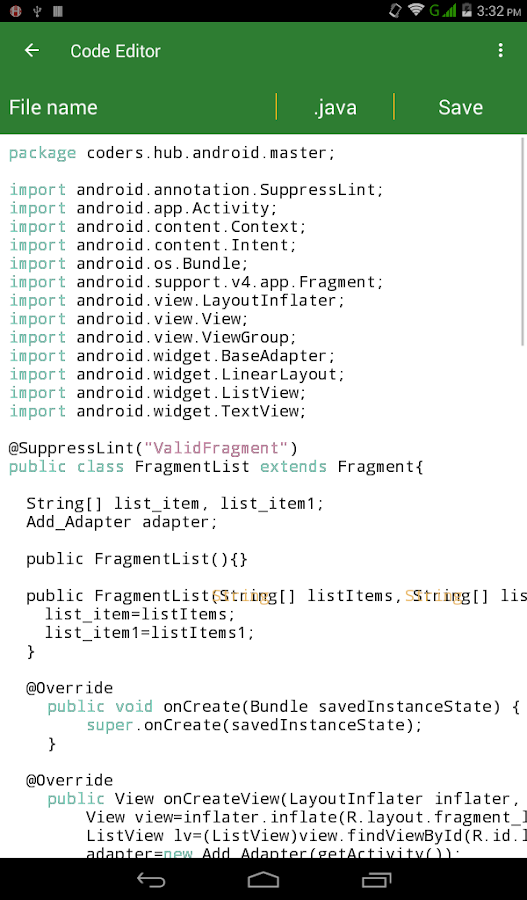 Master in Android- screenshot