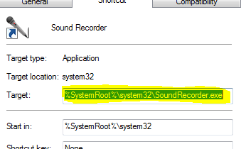 Just code: Seek and hide x64 or where my Sound Recoder?